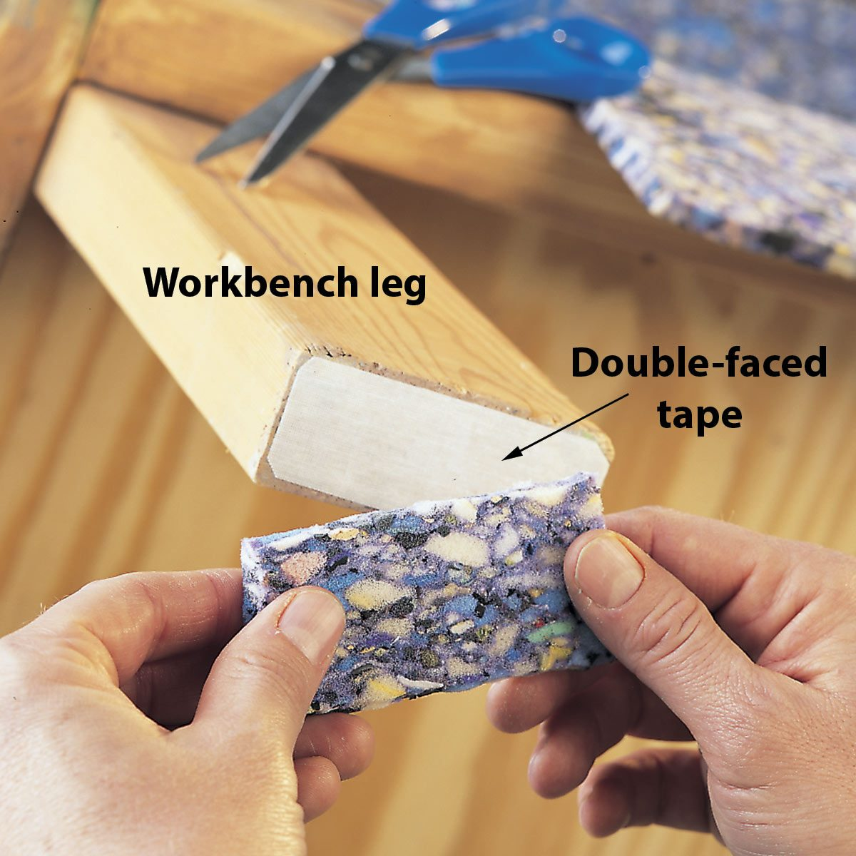 no-slide workbench feet