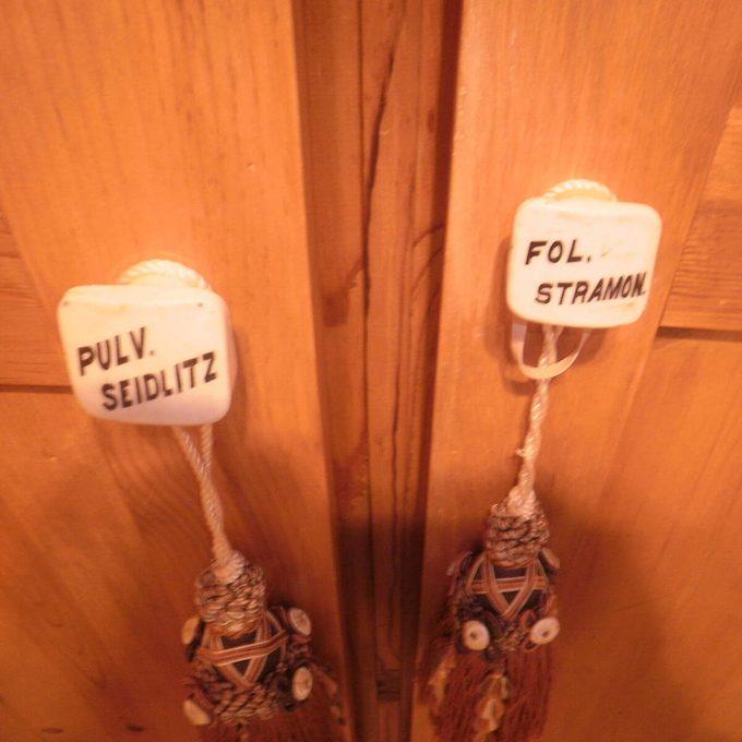 Latin knob on DIY armoire