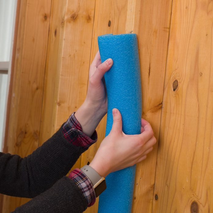 pool noodle handy hint door ding