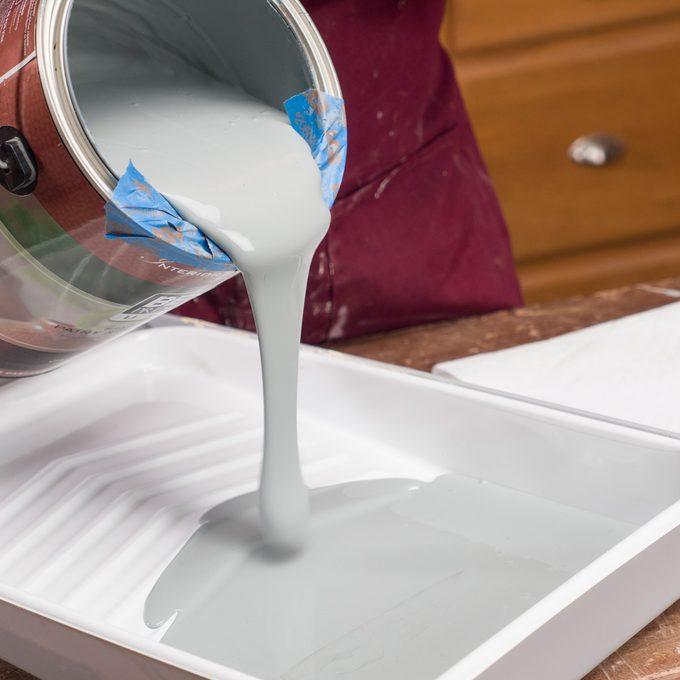 pour paint painters tape handy hint