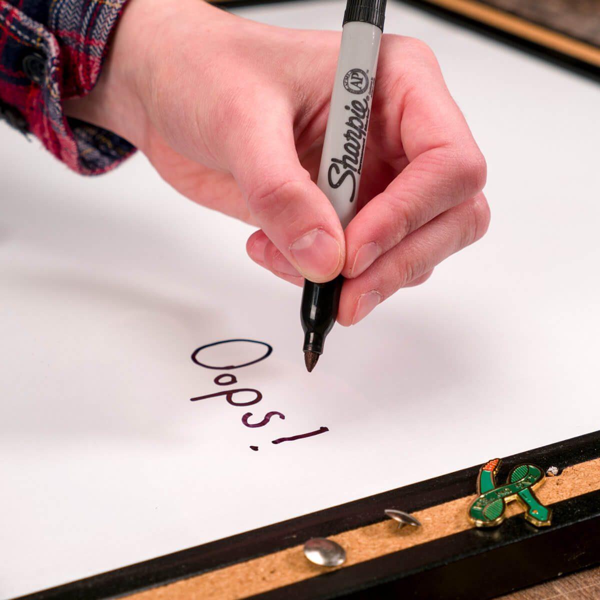 dry erase board permanent marker handy hints
