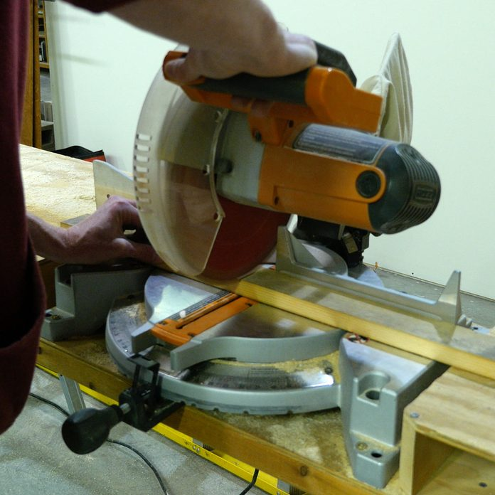 Reclaimed Key Hanger Cut On Miter Saw