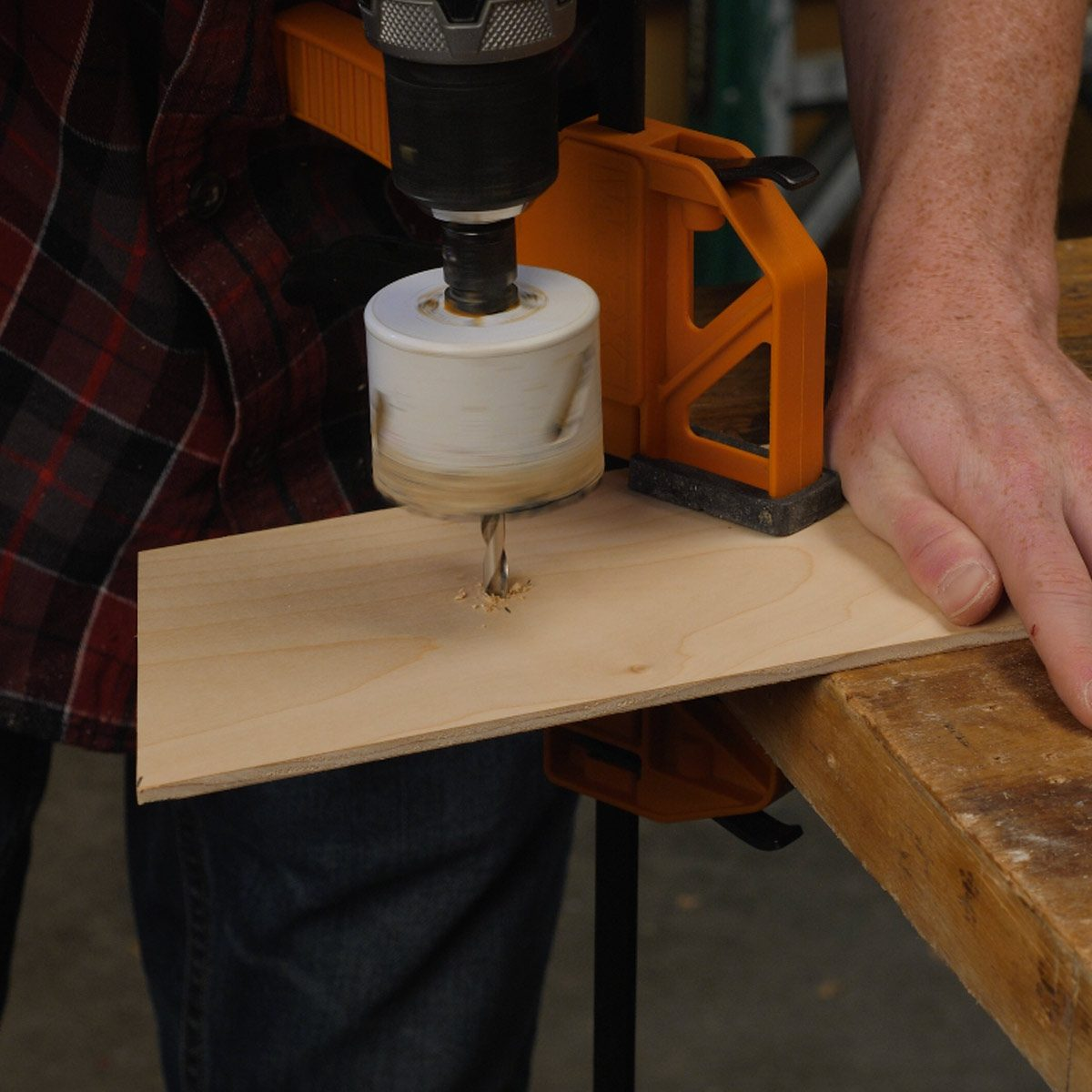 Make a Door with a Hole Saw