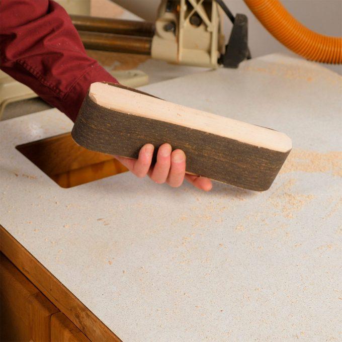 finished belt sander sanding block