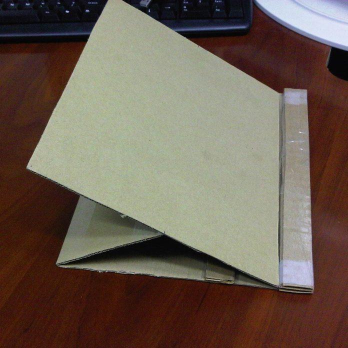 cardboard-holder tablet stand