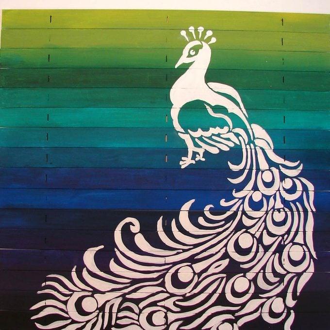 create art peacock