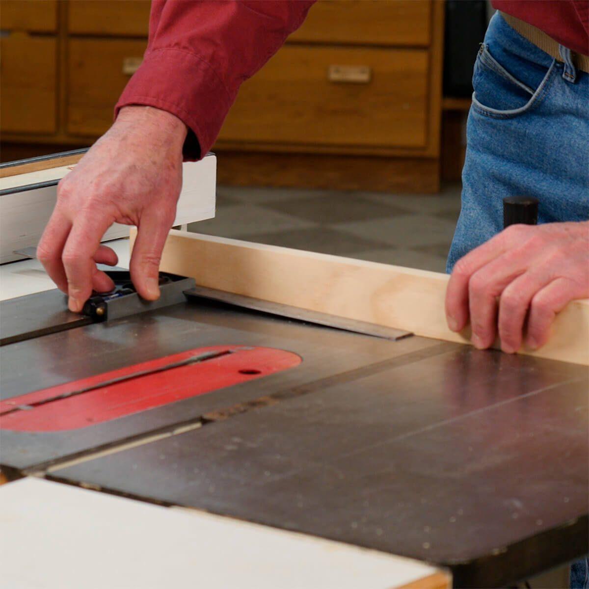 set blade to 1 in longer than desired length