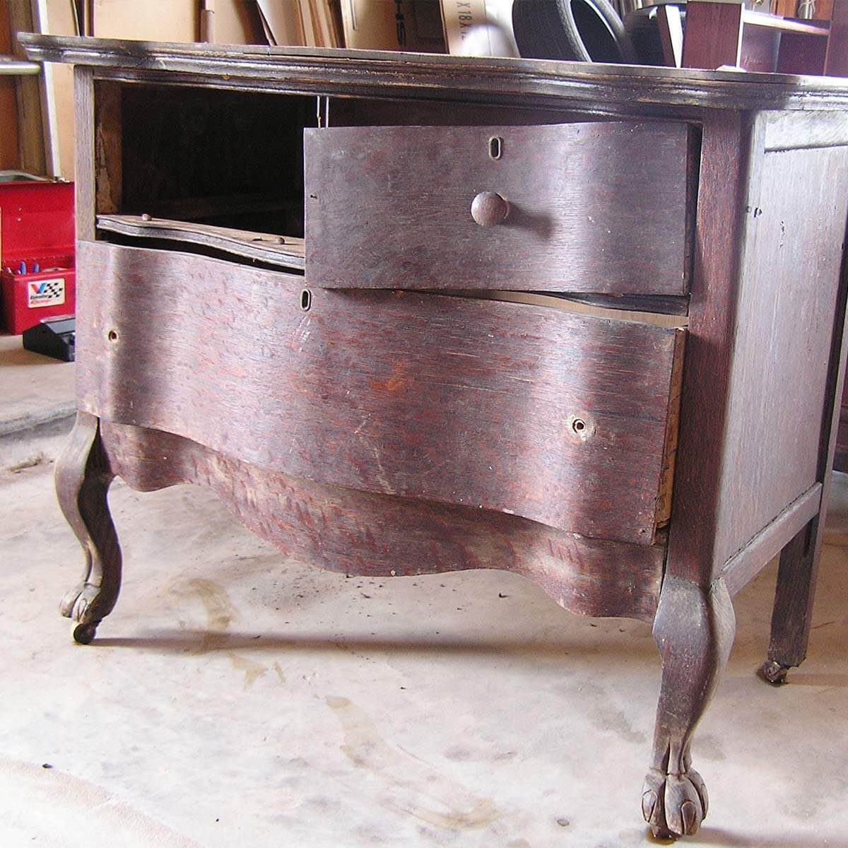 farmhouse dresser before