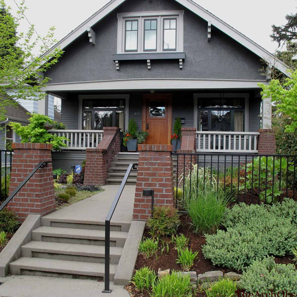 gray trim craftsman home
