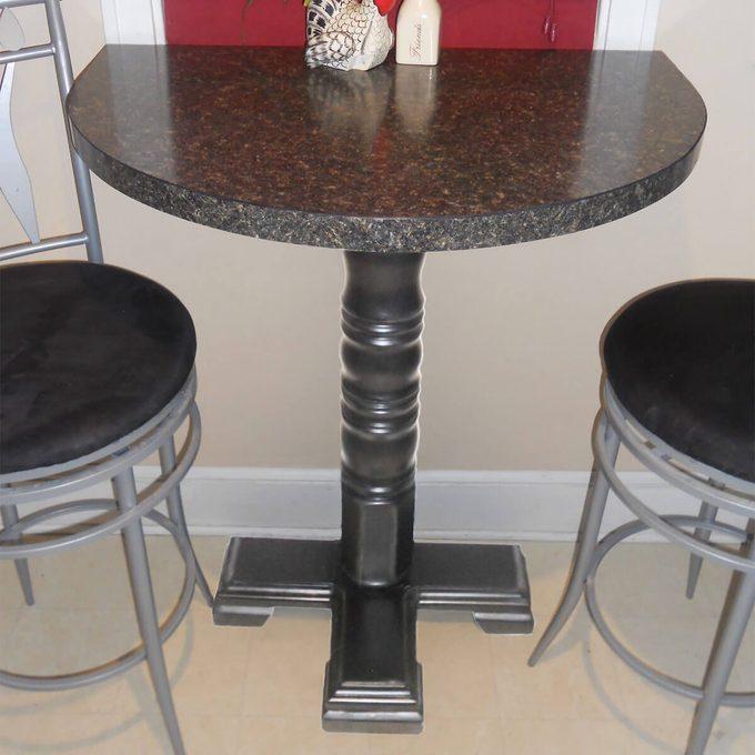 half-moon table for breakfast nook