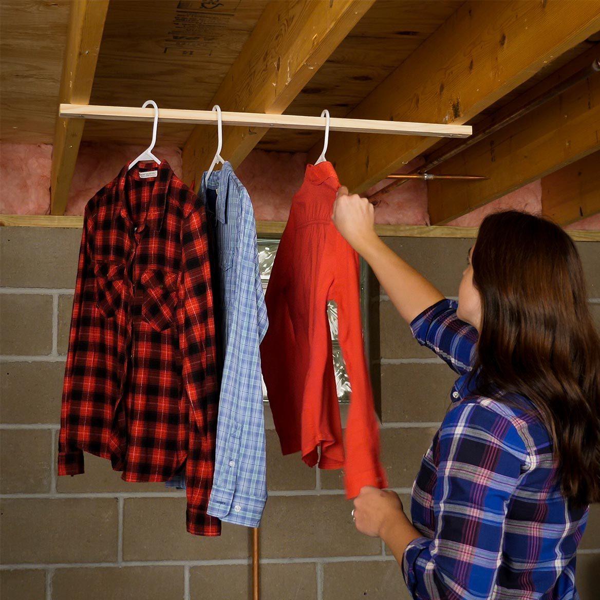 laundry room organizing ideas Hanging Drying Rack