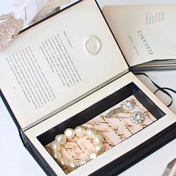 old book secret jewelry box