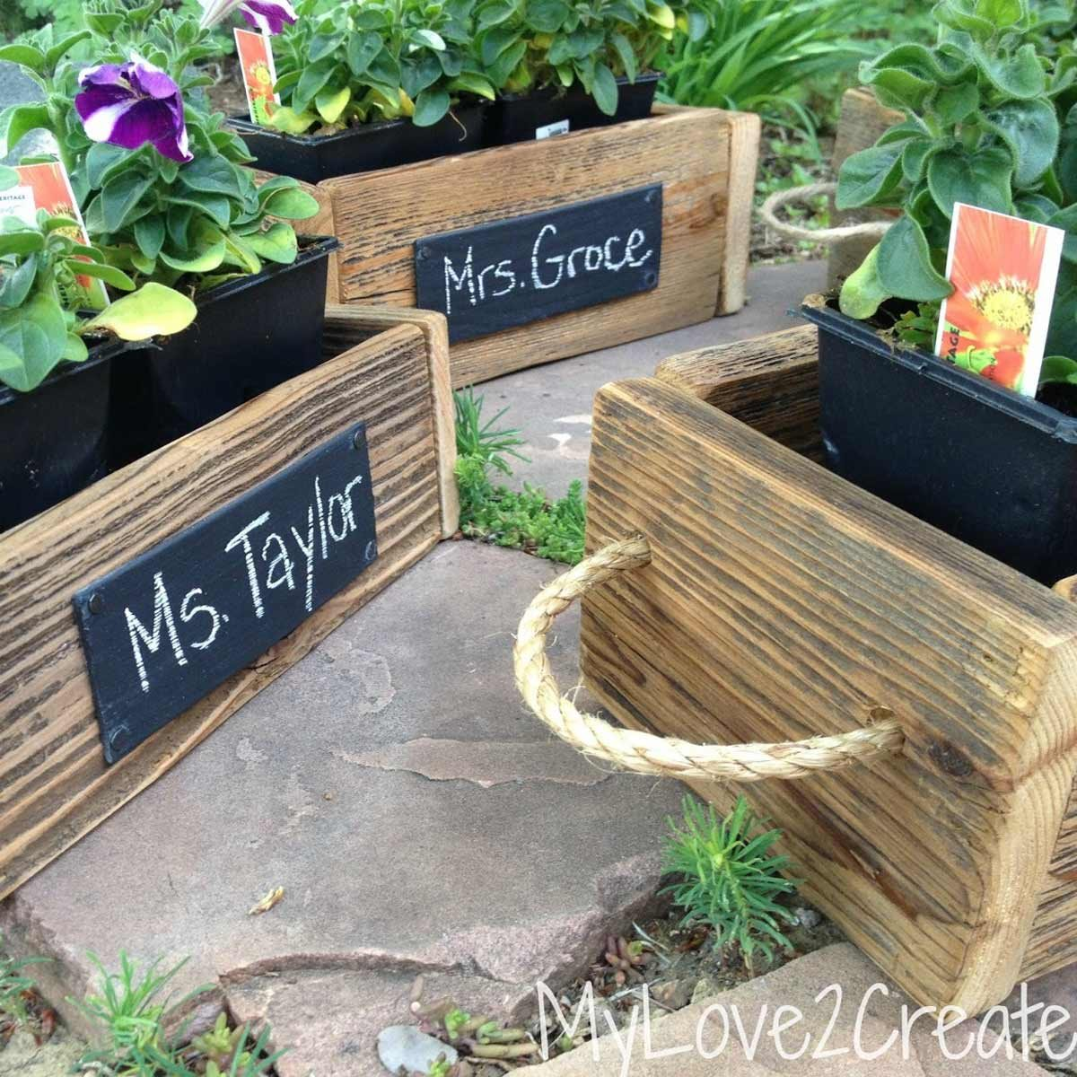 planter labels from blinds