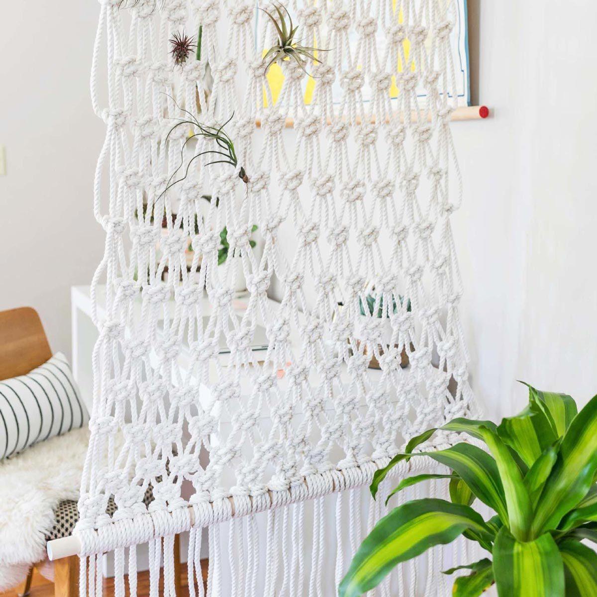 Macrame DIY Room Divider