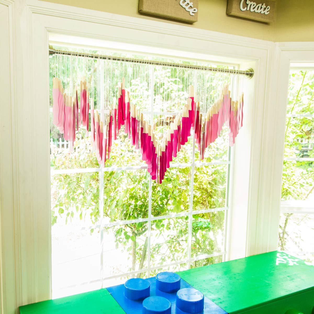 paint stick curtains