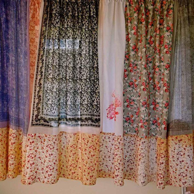 scarf-curtains diy curtain ideas