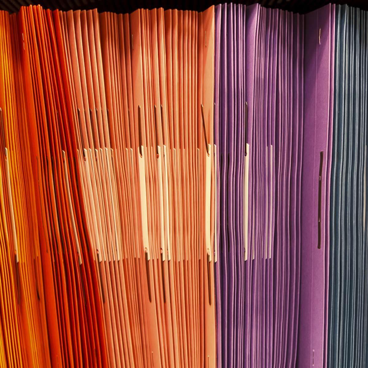 color code organization file folders