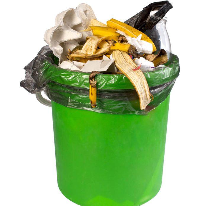 Trash garbage banana peel