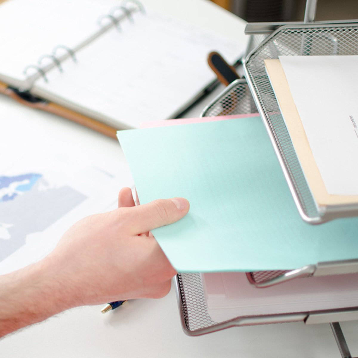 file folders desk organization