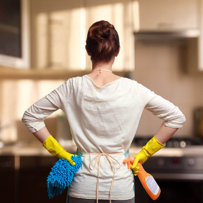 shutterstock_410558650 cleaning woman kitchen