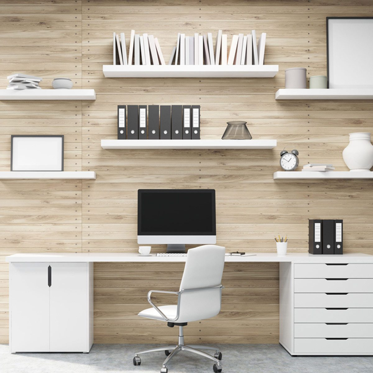 home office organization minimalism