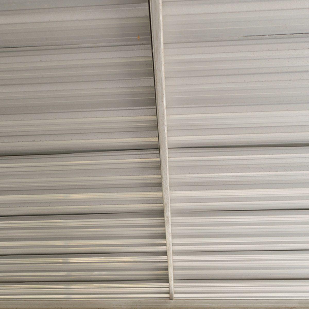 corrugated tin ceiling
