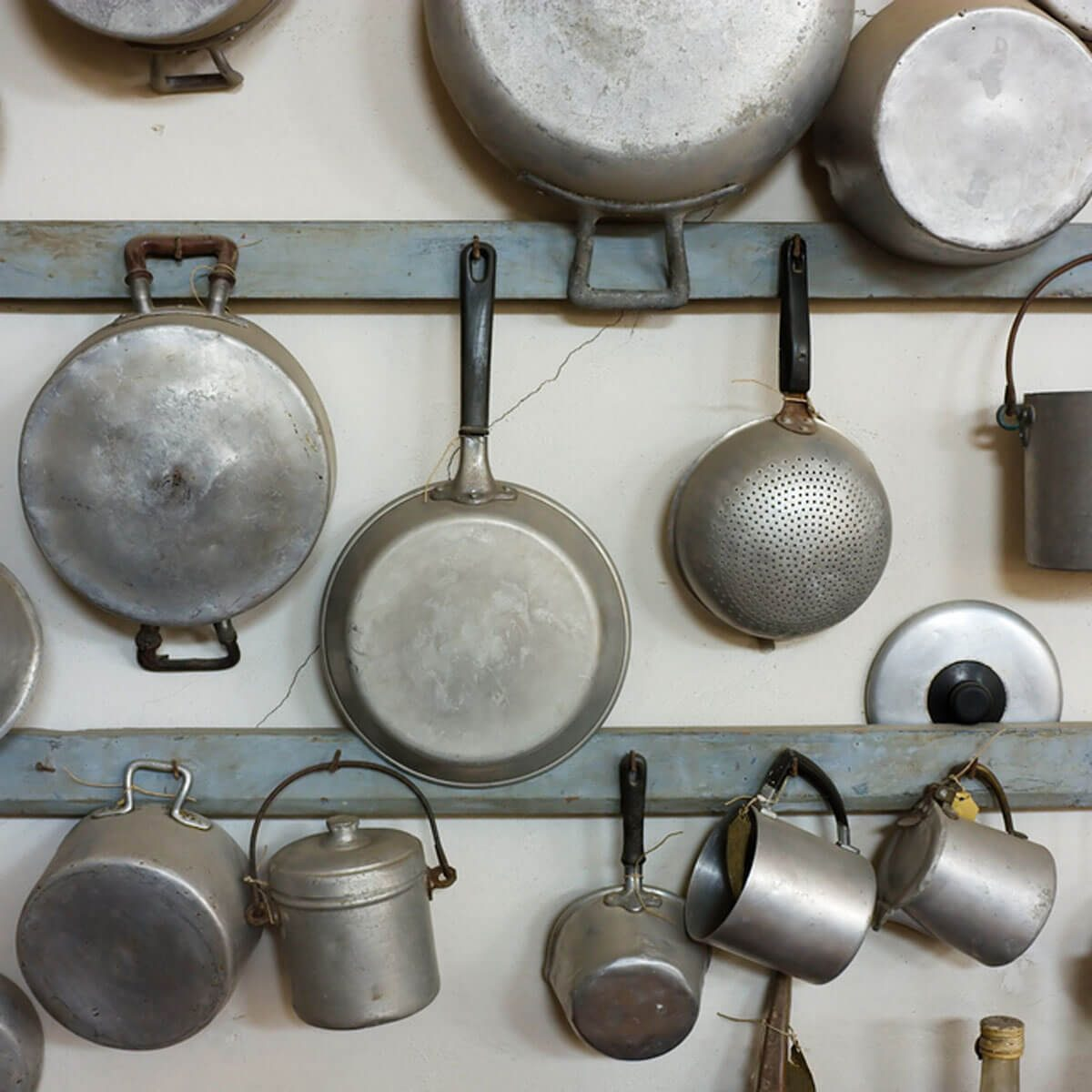 old pots and pans