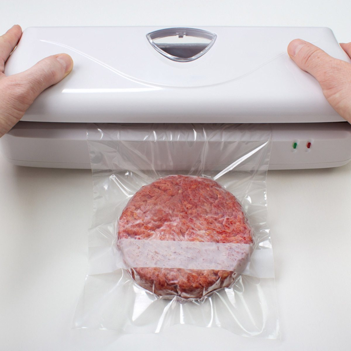 vacuum sealing hamburger freezing