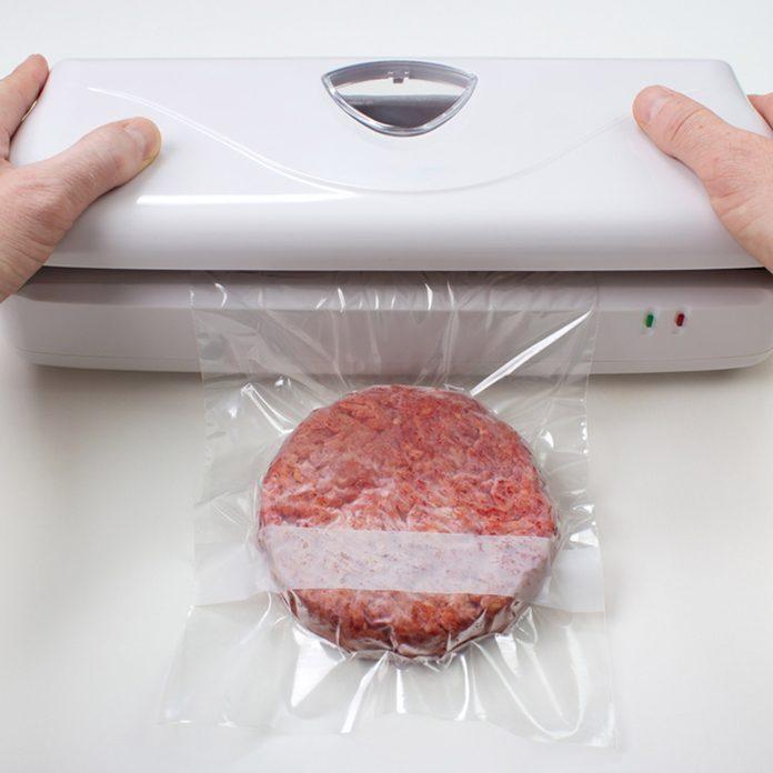 vacuum sealing hamburger freezing