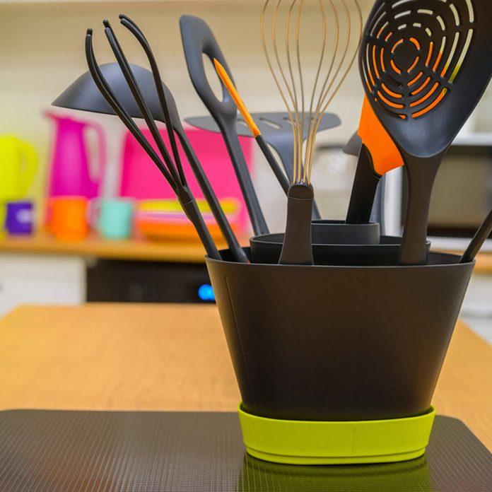 Plastic kitchen cooking utensils
