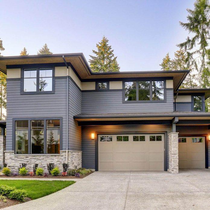 shutterstock_719378770 modern looking gray home trim