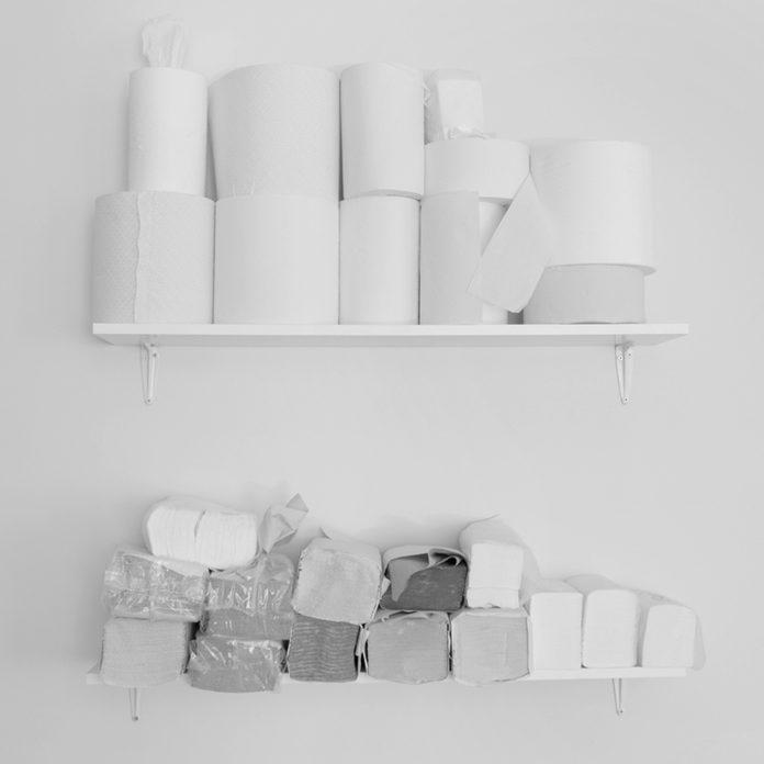 toilet paper towels shelf