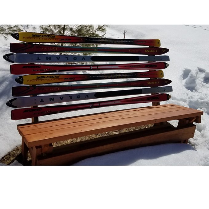 DIY ski-back bench
