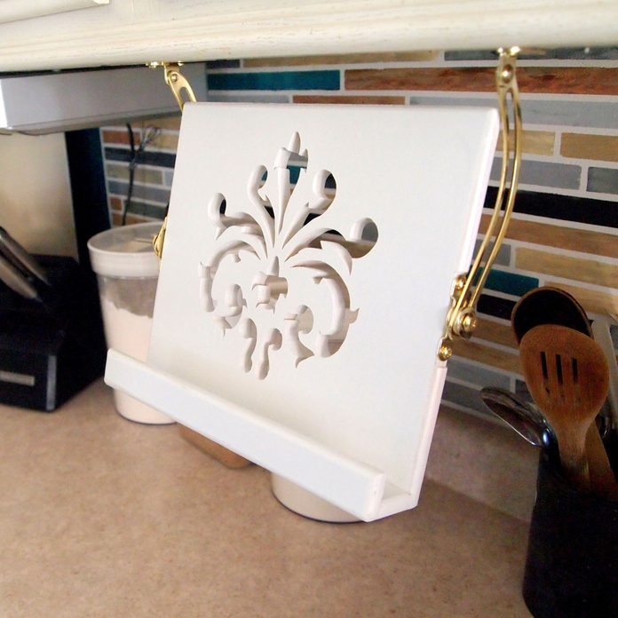 tablet stand under cabinet