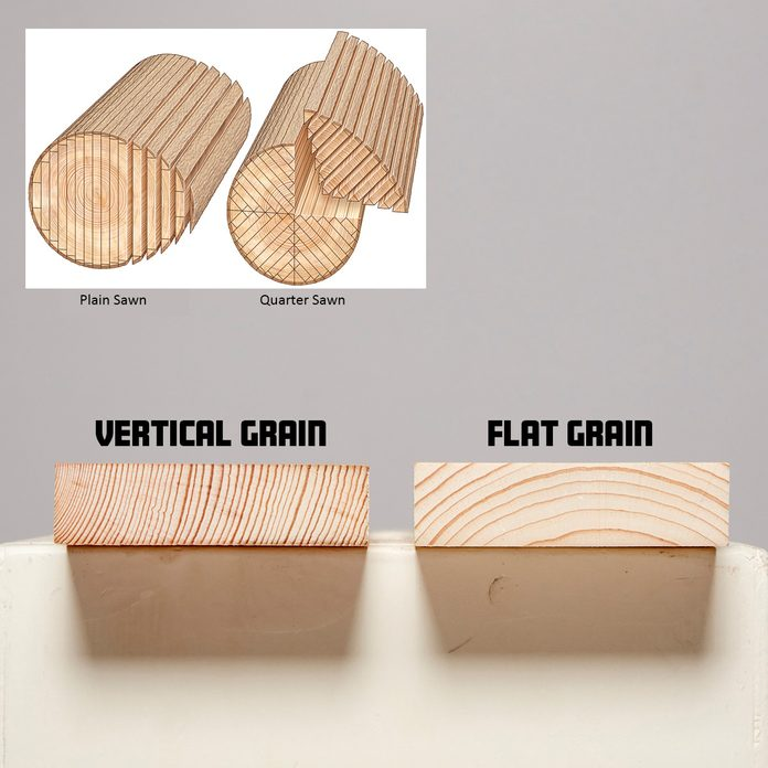 Vertical grain is more stable