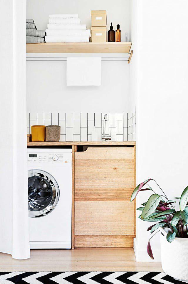 white laundry room