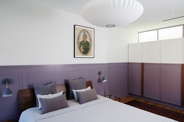 purple chair rail