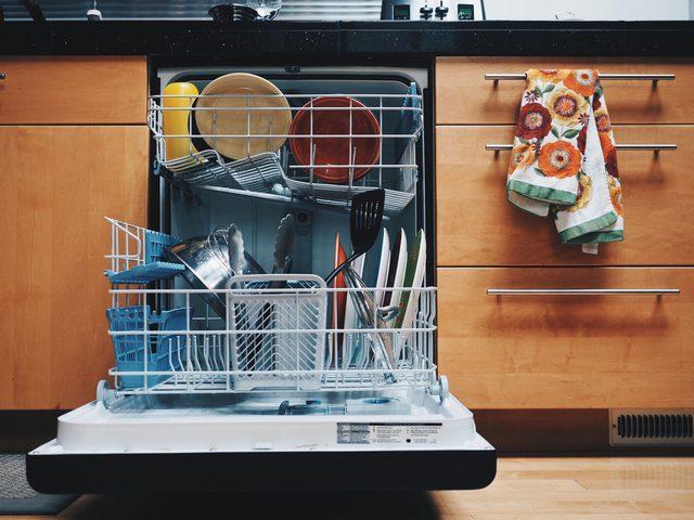 open dishwasher