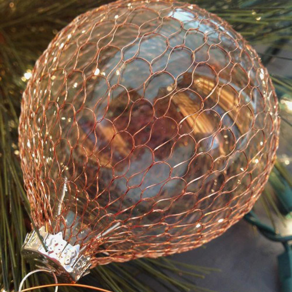 DIY Copper Scaled Glass Ornaments