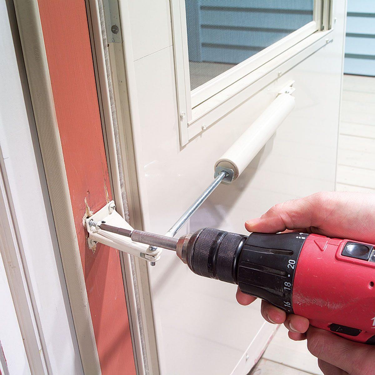 fix storm door closer
