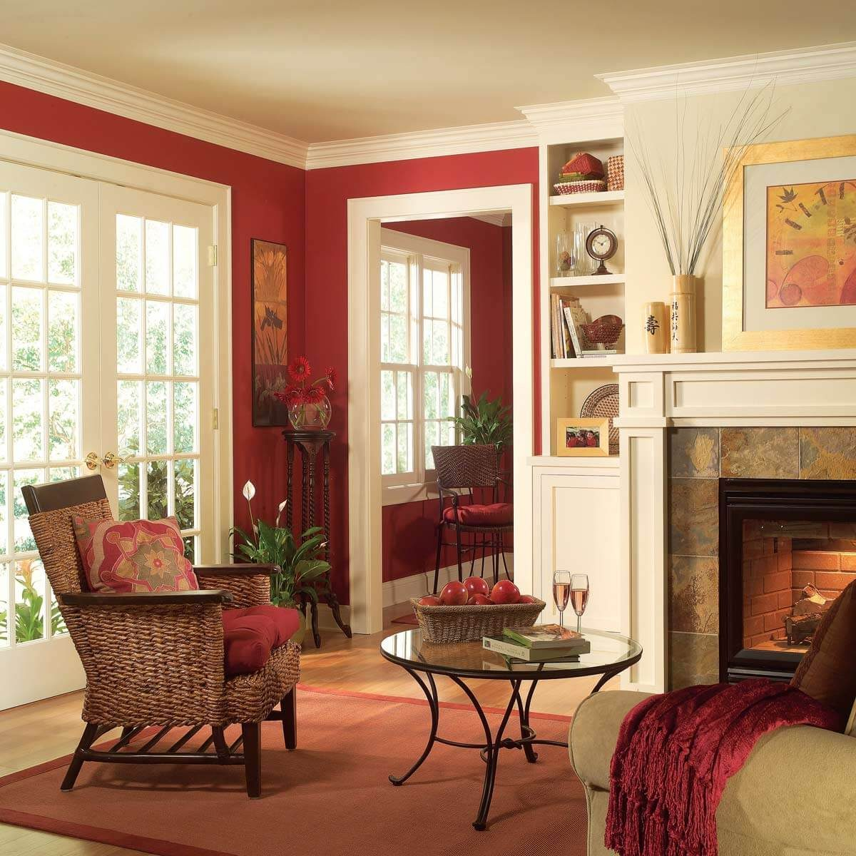 living room crown molding trim