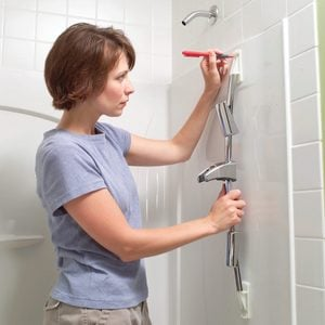 Install Toggle Bolts for an Adjustable Shower Head