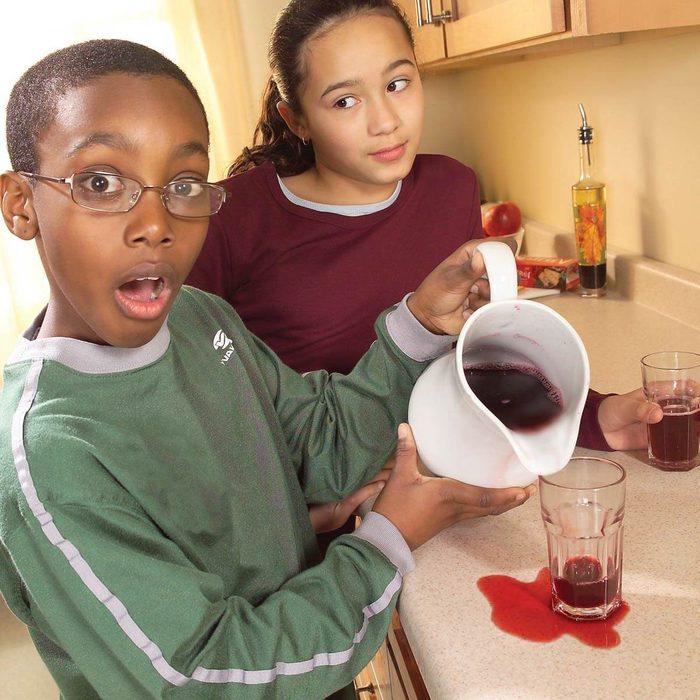 laminate countertop juice stains