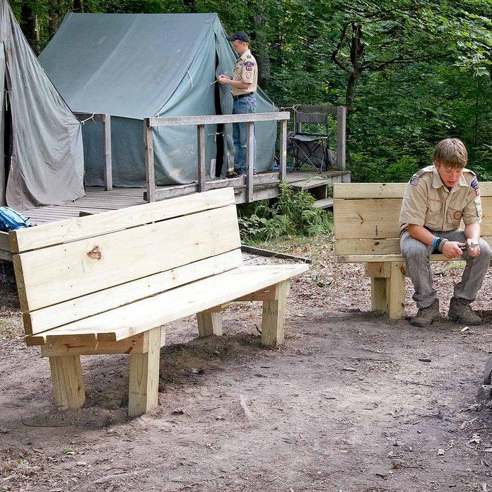 campfire bench