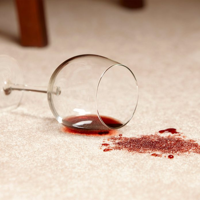 spilled wine on carpet, wine spill