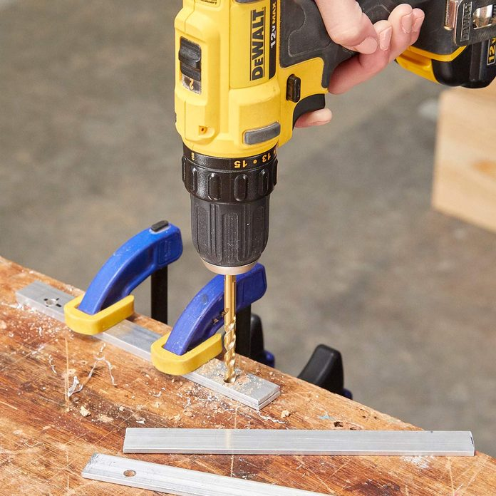 drill holes for bolts
