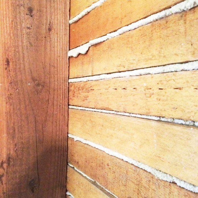 plaster lath wall