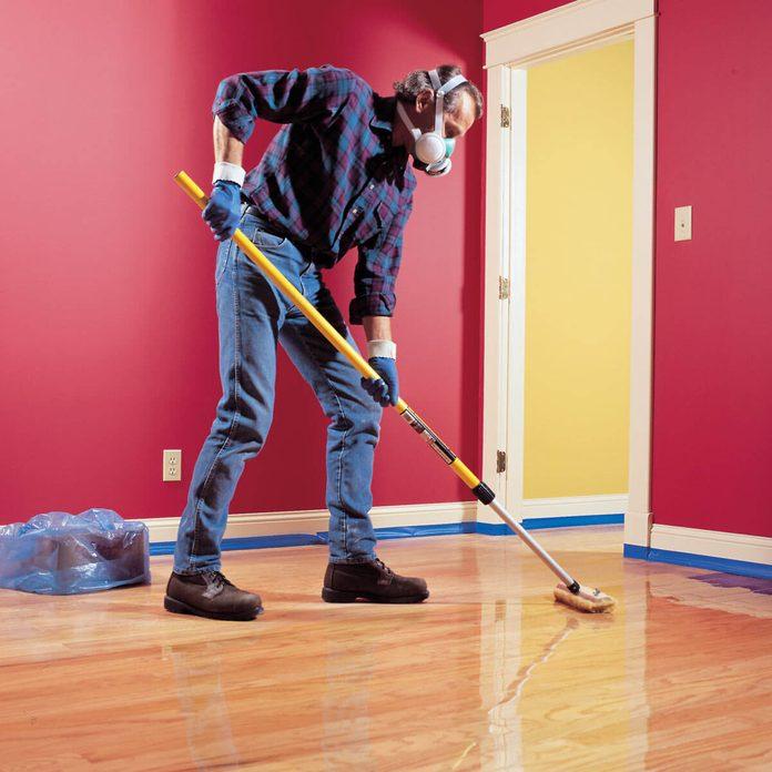 wood floor stain refinishing