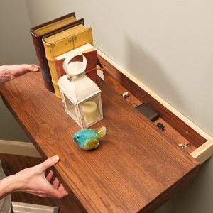 Saturday Morning Workshop: How To Build a Floating Shelf with Secret Drawer
