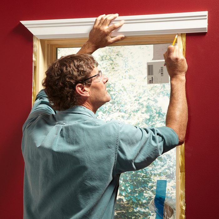Marking the length of a piece of trim   Construction Pro Tips